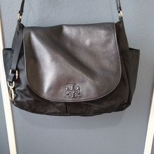 Tory Burch Diaper Bag Leather Nylon
